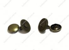 Кнопка магнитная установочная 14 мм, антик, 3148
