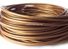 Шнур 1,5 мм, кожа, золото, 1580