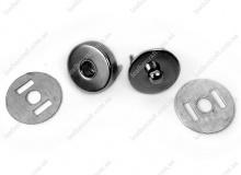 Кнопка пазовая 14 мм, никель, 3153