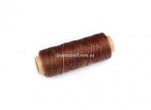 Нить вощеная, 1 мм, коричневая, 50 м.п. 1527/2