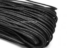 Шнур вощеный, хлопок, 2 и 3 мм, черный, х/б 100%, 1595