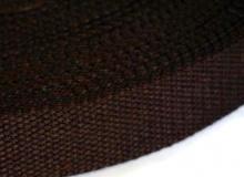 Ременная лента, 25 мм, коричневая, 1437