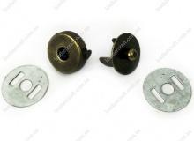 Кнопка пазовая 14 мм, антик, 3154