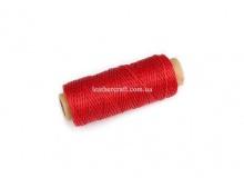 Нить вощеная, 1 мм, красная, 50 м.п, 1555/2