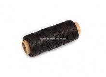 Нить вощеная, 1 мм, т. коричневая, 50 м.п, 1558/2