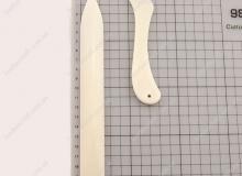 Полировка швов, урезов, канавок на коже, формовка; пластик, 1187