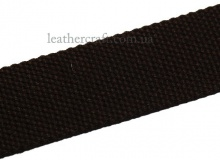 Лента рюкзачная, 38 мм., темно коричневая, 1447