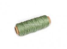 Нить вощеная, 1 мм, св. зеленая, 50 м.п, 1589/2